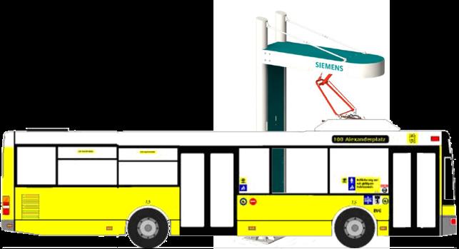 Schematische Darstellung des bidirektionalen Elektrobusses (© Siemens)